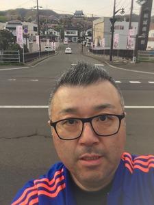 松前城と俺.JPG